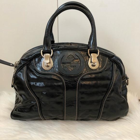 b252cf065c Gucci Bags | Patent Bowling Bag | Poshmark